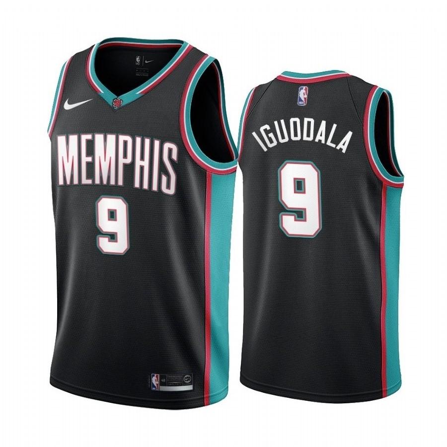 Nike Grizzlies #9 Andre Iguodala Men's Hardwood Classic NBA Black Jersey