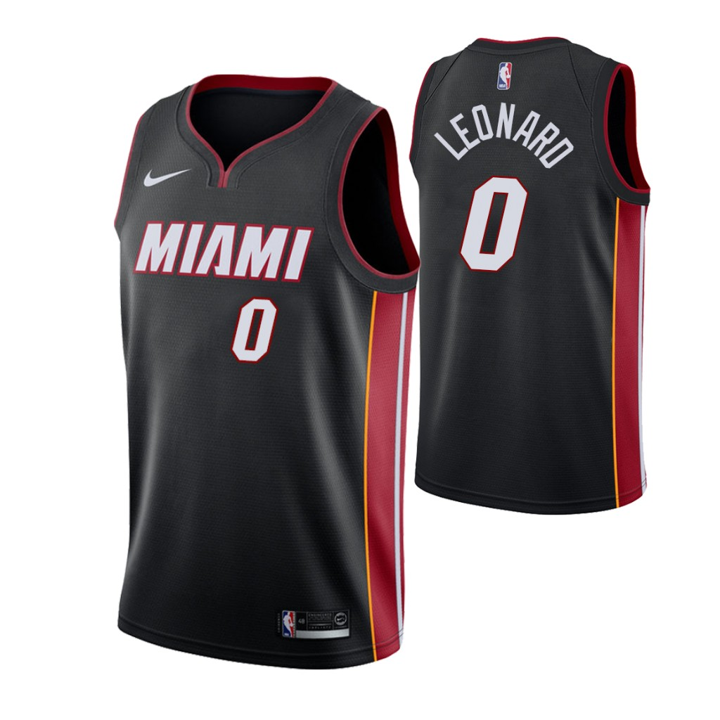 Nike Heat #0 Meyers Leonard Icon Edition Men's Black NBA Jersey