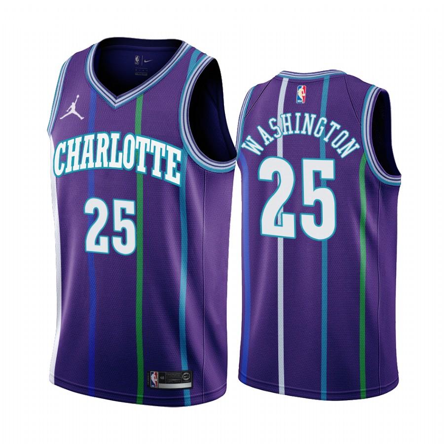 Nike Hornets #25 PJ Washington Purple 2019-20 Classic Edition Stitched NBA Jersey