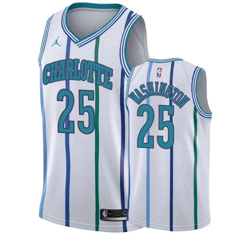 Nike Hornets #25 PJ Washington White 2019-20 Hardwood Classic Edition Stitched NBA Jersey