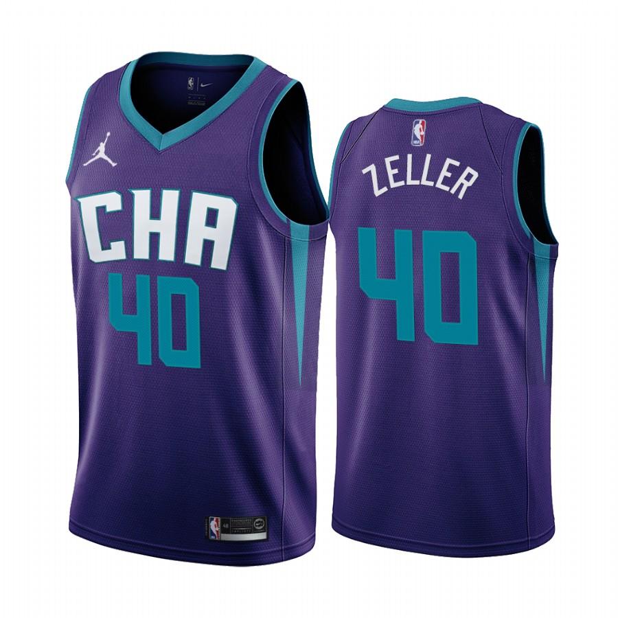 Nike Hornets #40 Cody Zeller Purple 2019-20 Statement Edition NBA Jersey