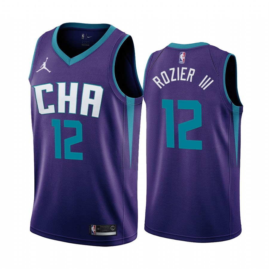 Nike Hornets #12 Terry Rozier III Purple 2019-20 Statement Edition NBA Jersey