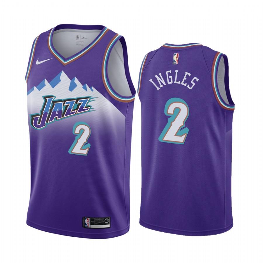 Nike Jazz #2 Joe Ingles Purple 2019-20 Hardwood Classic Edition Stitched NBA Jersey