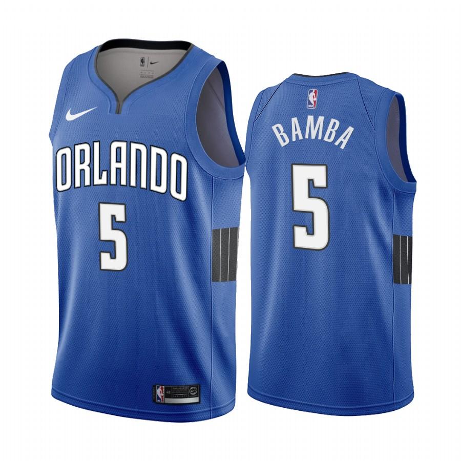 Nike Magic #5 Mohamed Bamba Blue 2019-20 Statement Edition NBA Jersey