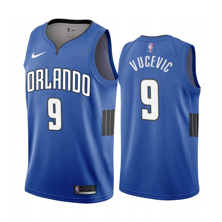 Nike Magic #9 Nikola Vucevic Blue 2019-20 Statement Edition NBA Jersey