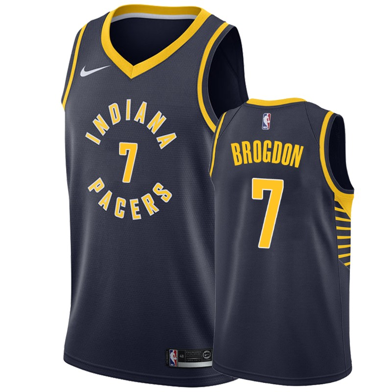 Nike Pacers #7 Malcolm Brogdon Navy Blue NBA Swingman Icon Edition Jersey