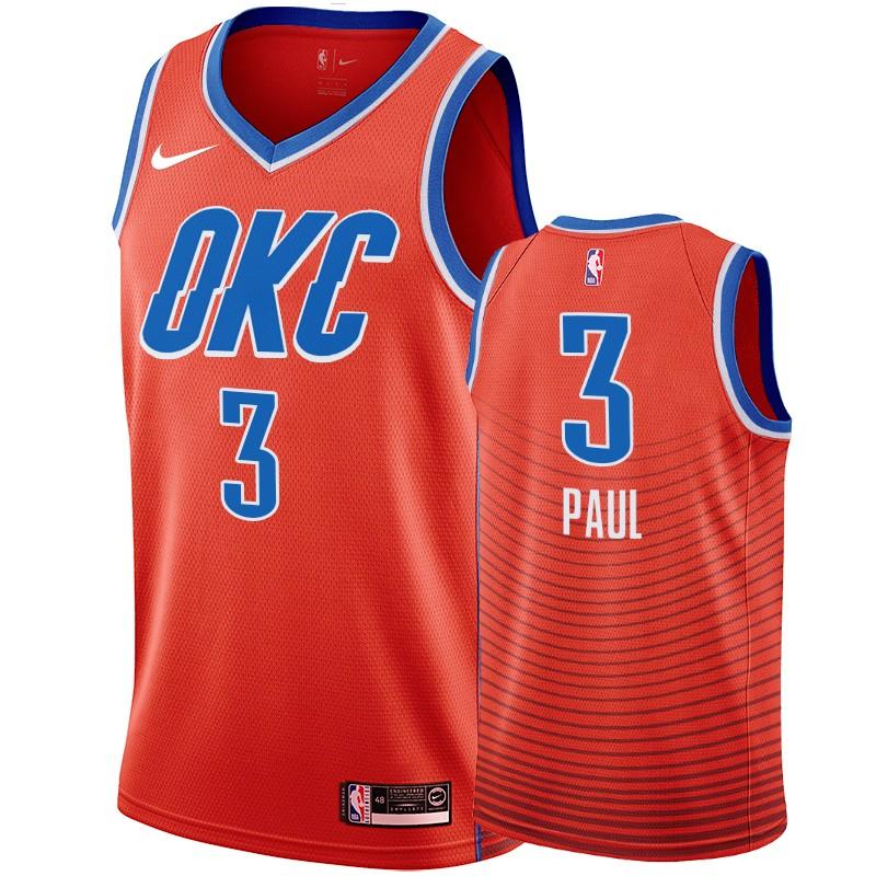 Nike Thunder #3 Chris Paul Orange Men's Statement Edition NBA Jersey