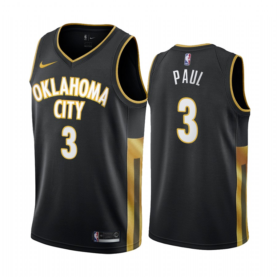 Nike Thunder #3 Chris Paul Black 2019-20 City Edition Swingman NBA Jersey