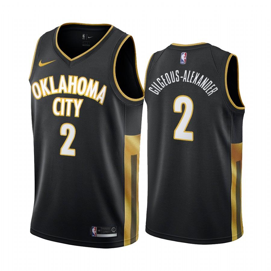 Nike Thunder #2 Shai Gilgeous-Alexander Black 2019-20 City Edition Swingman NBA Jersey
