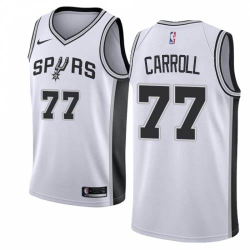 Nike Spurs #77 DeMarre Carroll White NBA Swingman Association Edition Jersey