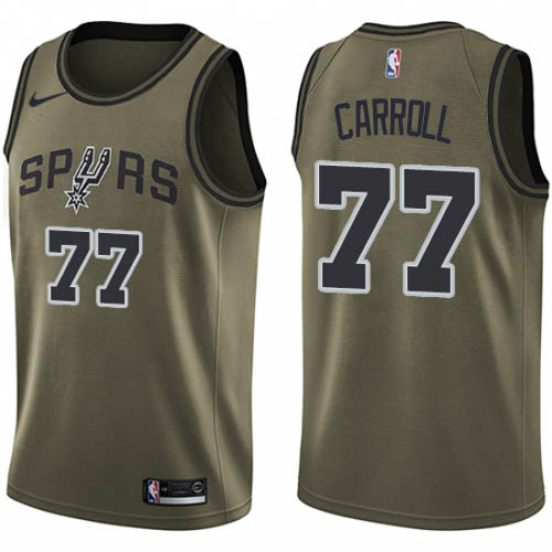 Nike Spurs #77 DeMarre Carroll Green NBA Swingman Salute to Service Jersey