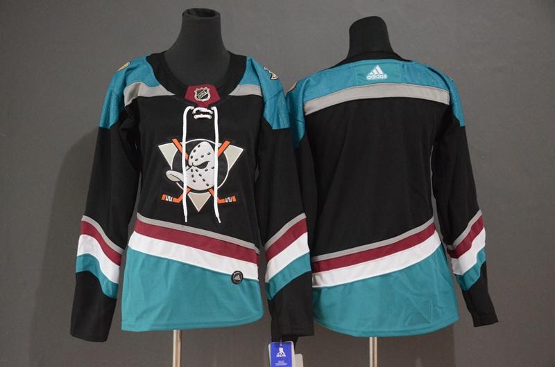 Ducks Blank Black Women Alternate Breakaway Adidas Jersey