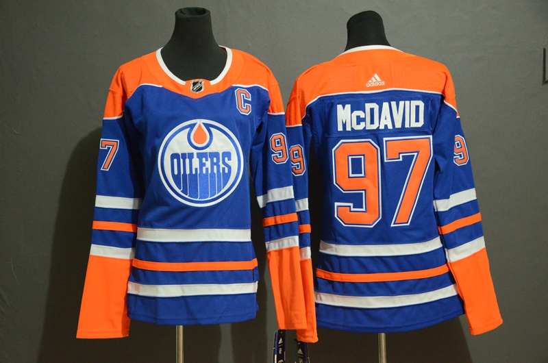 Oilers #97 Connor McDavid Royal Youth Adidas Jersey