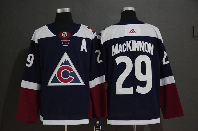 Avalanche #29 Nathan MacKinnon Navy Alternate Adidas Jersey