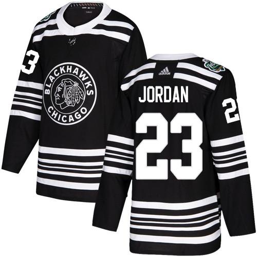 Blackhawks #23 Michael Jordan Black 2019 Winter Classic Adidas Jersey