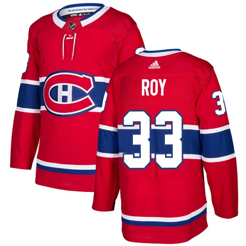 Canadiens #33 Patrick Roy Red Adidas Jersey