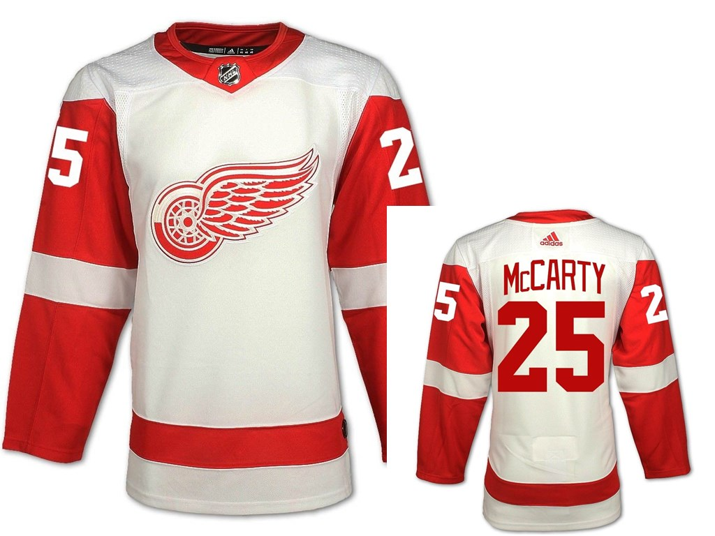 Detroit Red Wings #25 Darren McCarty White Road Authentic NHL Jersey