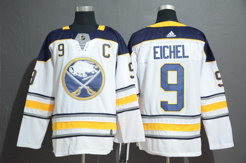 Sabres #9 Jack Eichel White Adidas Jersey