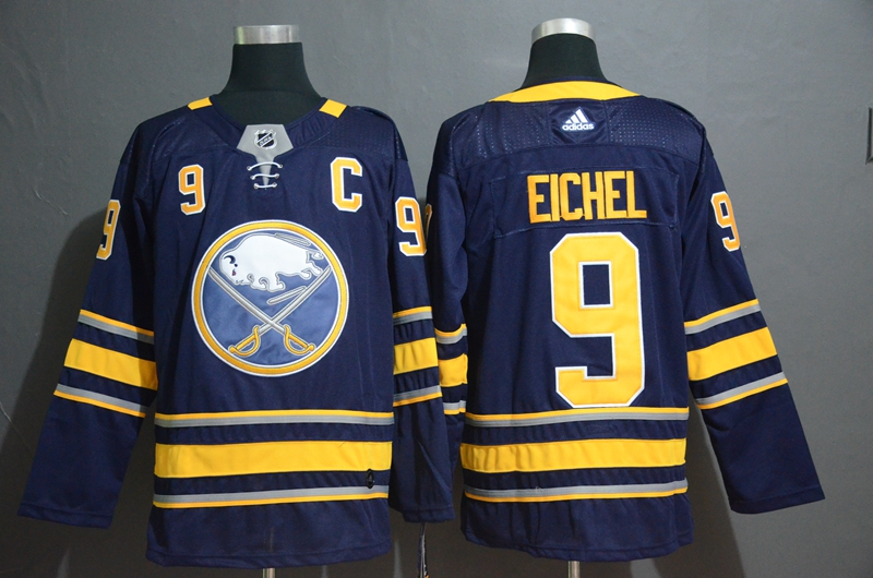 Sabres #9 Jack Eichel Navy Adidas Jersey