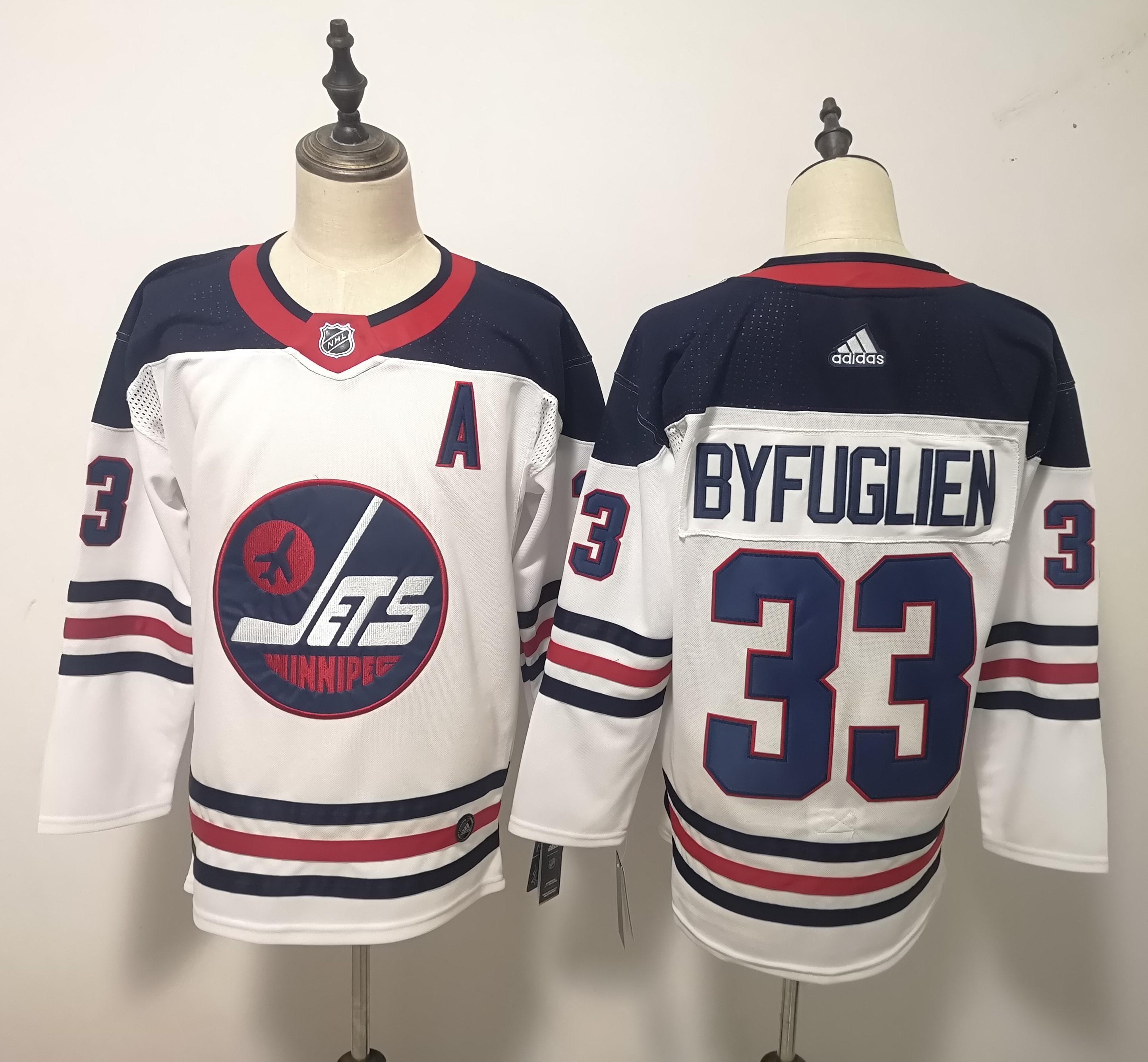 Winnipeg Jets #33 Dustin Byfuglien White Breakaway Heritage Adidas Jersey