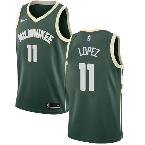 Nike Bucks #11 Brook Lopez Green NBA Swingman Icon Edition Jersey