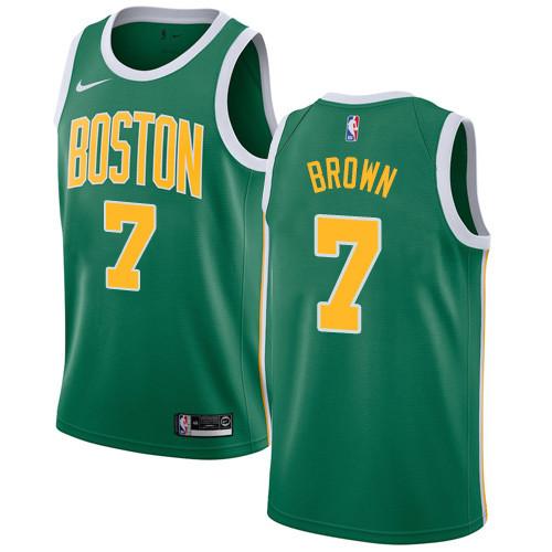 Nike Celtics #7 Jaylen Brown Green NBA Swingman Earned Edition Jersey