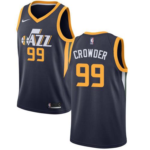 Nike Jazz #99 Jae Crowder Navy NBA Swingman Icon Edition Jersey