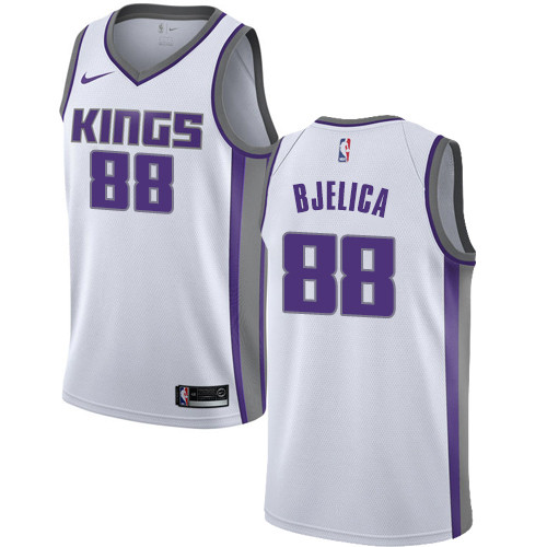Nike Kings #88 Nemanja Bjelica White NBA Swingman Association Edition Jersey