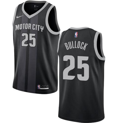 Nike Pistons #25 Reggie Bullock Black NBA Swingman City Edition Jersey