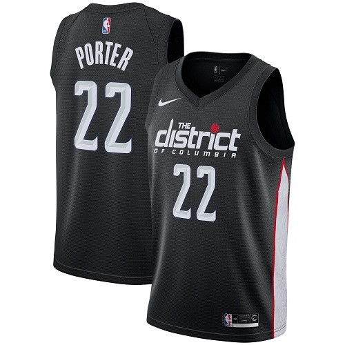 Nike Wizards #22 Otto Porter Black NBA Swingman City Edition Jersey