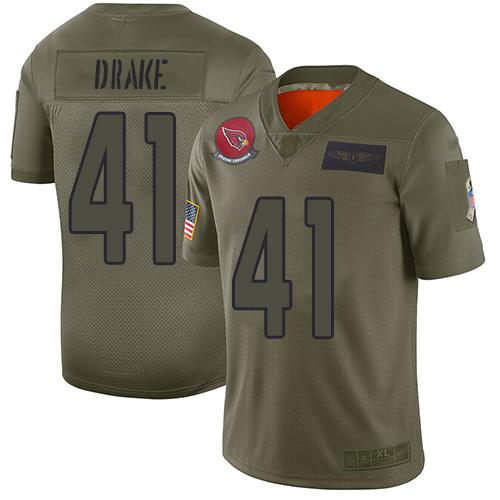 Cardinals #41 Kenyan Drake Camo Men's Stitched NFL Limited 2019 Salute To Service Jersey