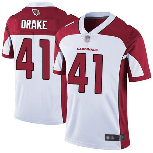 Cardinals #41 Kenyan Drake White Men's Stitched Football Vapor Untouchable Limited Jersey