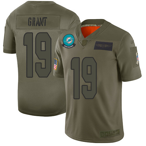 Nike Dolphins #19 Jakeem Grant Camo Men's Stitched NFL Limited 2019 Salute To Service Jersey