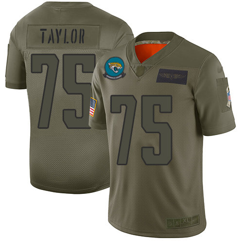 Nike Jaguars #75 Jawaan Taylor Camo Men's Stitched NFL Limited 2019 Salute To Service Jersey