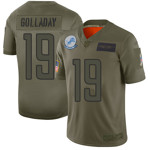 Nike Lions #19 Kenny Golladay Camo Men's Stitched NFL Limited 2019 Salute To Service Jersey
