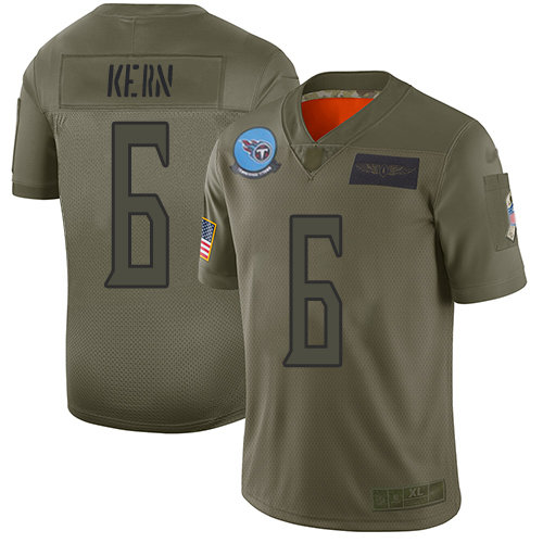 Nike Titans #6 Brett Kern Camo Men's Stitched NFL Limited 2019 Salute To Service Jersey