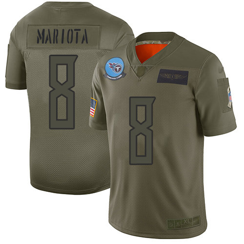 Nike Titans #8 Marcus Mariota Camo Men's Stitched NFL Limited 2019 Salute To Service Jersey