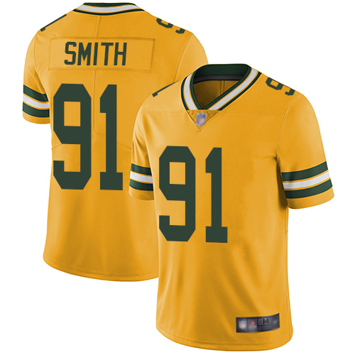 Packers #91 Preston Smith Yellow Men's Stitched Football Vapor Untouchable Limited Jersey