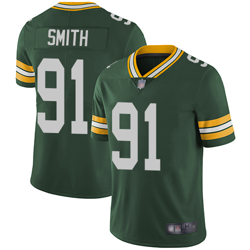 Packers #91 Preston Smith Green Team Color Men's Stitched Football Vapor Untouchable Limited Jersey