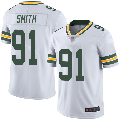 Packers #91 Preston Smith White Men's Stitched Football Vapor Untouchable Limited Jersey