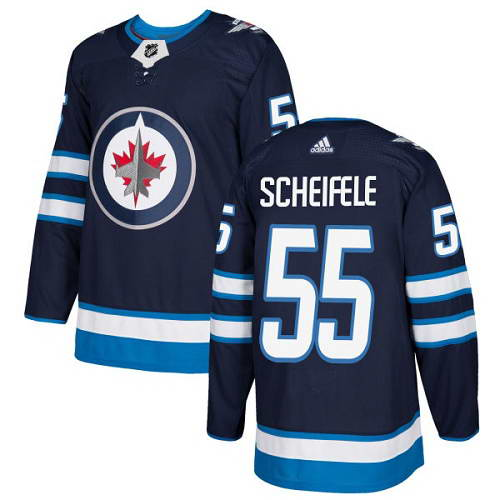 Adidas Jets #55 Mark Scheifele Navy Blue Home Authentic Stitched NHL Jersey