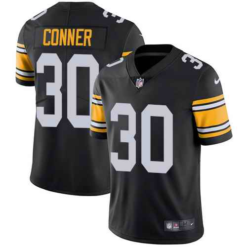Youth Nike Steelers 30 James Conner Black Alternate Vapor Untouchable Limited Jersey