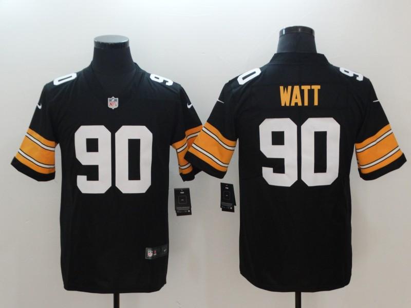 Youth Nike Steelers 90 T.J. Watt Black Alternate Vapor Untouchable Limited Jersey