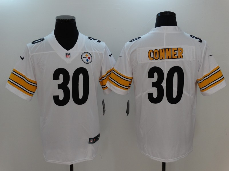 Youth Nike Steelers 30 James Conner White Vapor Untouchable Player Limited Jersey