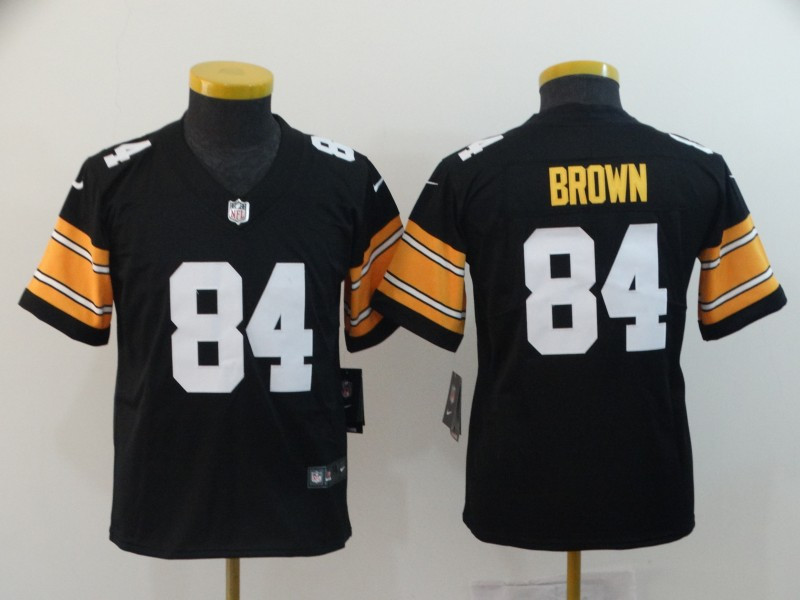Youth Nike Steelers 84 Antonio Brown Black Alternate Vapor Untouchable Limited Jersey