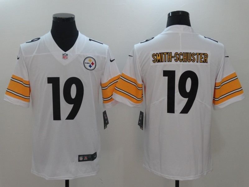 Youth Nike Steelers 19 JuJu Smith-Schuster White Vapor Untouchable Player Limited Jersey