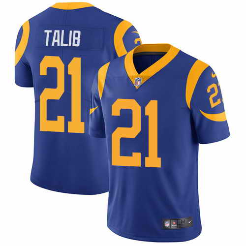 Youth Nike Rams #21 Aqib Talib Royal Blue Alternate Stitched NFL Vapor Untouchable Limited Jersey