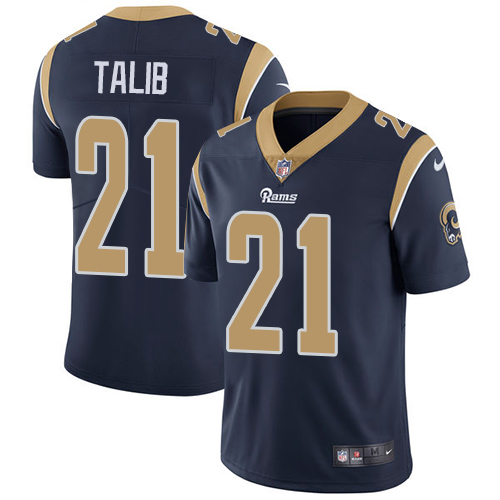 Youth Nike Rams #21 Aqib Talib Navy Blue Team Color Stitched NFL Vapor Untouchable Limited Jersey