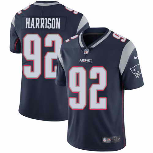 Youth Nike Patriots #92 James Harrison Navy Blue Stitched NFL Vapor Untouchable Limited Jersey