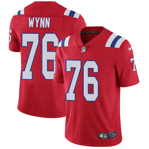 Youth Nike Patriots #76 Isaiah Wynn Red Alternate Stitched NFL Vapor Untouchable Limited Jersey